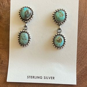 Eleanor Largo Turquoise & Sterling Silver Dangles
